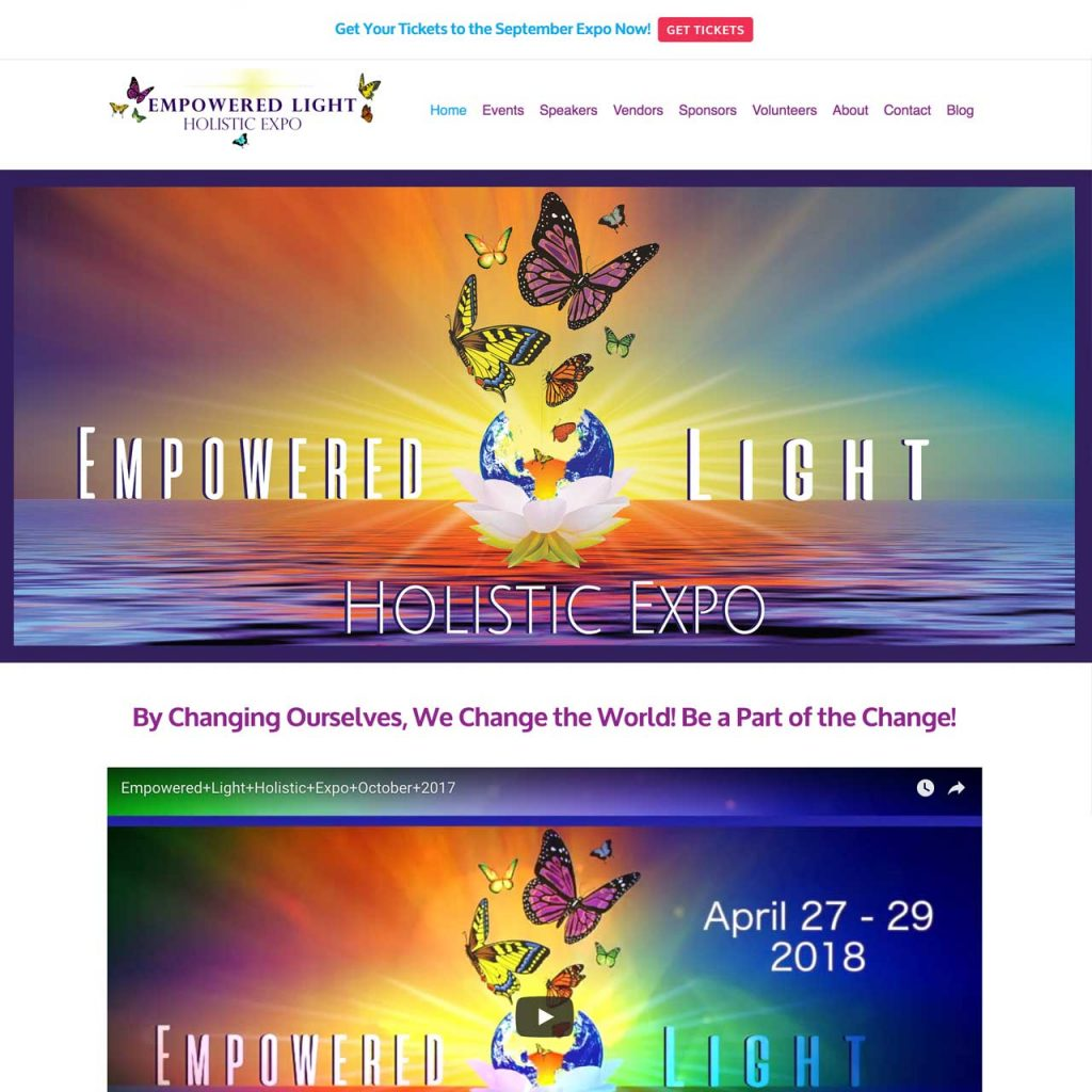 Website Design Marketing Strategy - Empowered Light Holistic Expo