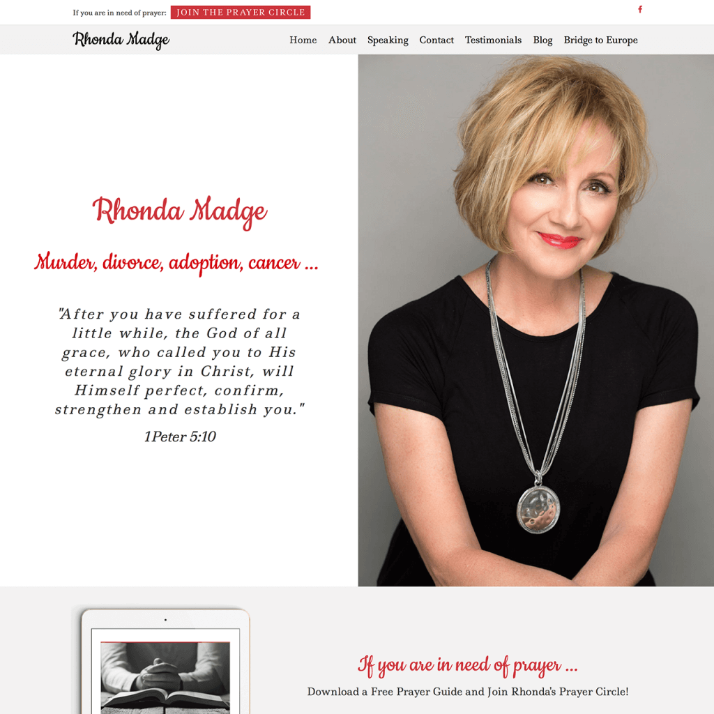 Rhonda Madge Author Speaker Website Design