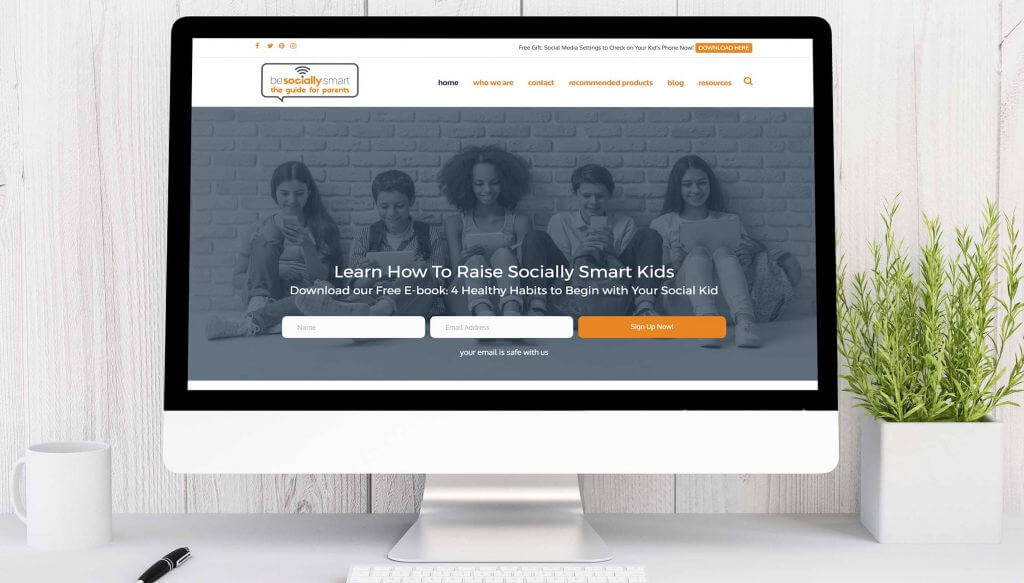 Website Design Case Study - Be Socially Smart